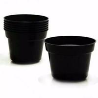 pot Hitam Tebal Ukuran 20cm / Pot bunga plastik / pot Tanaman