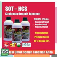 pupuk organik cair SOT HCS untuk cabe padi buah sayur bunga tanaman
