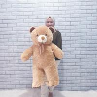 COD Boneka Beruang Teddy Bear Jumbo 1 meter Warna Cokelat Milo Coklat