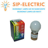 EKONOMAT LAMPU LED 1W WARM WHITE / EKONOMAT LAMPU LED 1WATT
