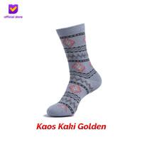 Kaos Kaki Motif Fashion Footstep Footwear - Golden Socks