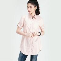 Kemeja Wanita / Mey's Paris Salem Shirt 22261L5SL - Logo Jeans