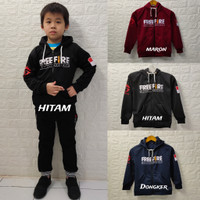 jaket/sweater free fire anak