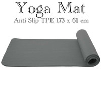 karpet pilates yoga exercise mat anti slip tpe 173 x 61 cm asim