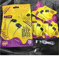 Handsfree V-gen Earphone Vep1-16 Handset V-gen Earphone Vep1-16 Bass