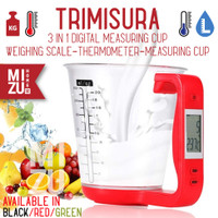 TRIMISURA Gelas Takar Timbang Digital Scale Thermometer Measuring Cup