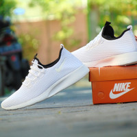 sepatu sport casual nike kaishi run slip on slop full white Grade Ori
