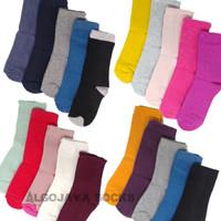 1lusin kaos kaki panjang polos anak TK SD SMP (unisex) - Ukuran TK