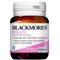 Blackmores Folate Folic Acid 500mcg Made In Australia