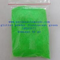 glitter / bubuk gliter / serbuk glitter powder fluorescent 50 GR JPN - fluor green