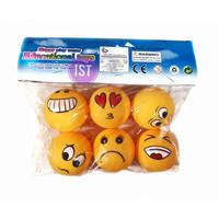 Mainan Vynil Bola Smile Kuning 6 pcs
