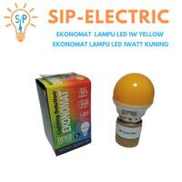 EKONOMAT LAMPU LED 1W YELLOW / EKONOMAT LAMPU LED 1WATT KUNING