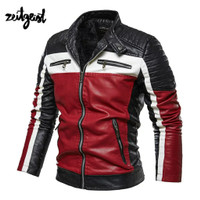 Jaket Motor Jaket Kulit Pria Racing Touring Original Zeitgeist - Merah, S