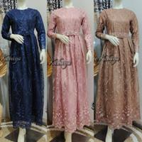 Dress Muslimah Tulle / Kebaya Gamis Modern Bordir Maymunah