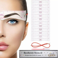 EYEBROW STENCIL CARD/EYEBROW TEMPLATE MAKEUP /BROW CLASS DRAWING GUIDE