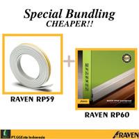 RAVEN DOOR SEAL RP60 SILVER + RP59 WHITE PAKET PENUTUP CELAH PINTU