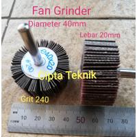 Fan Grinder 40 x 20 grit 240 - Amplas Kipas 40x20