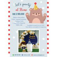 Paket Dekorasi ulang tahun / backdrop styrofoam balon dessert table