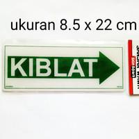 sign board papan label peringatan akrilik acrylic kiblat