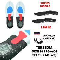 Insole Sepatu Shoe Pad Gel Support Sneakers Sport Empuk