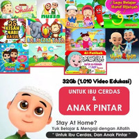 FLASHDISK VIDEO EDUKASI ANAK MUSLIM 32GB BELAJAR NGAJI GRATIS OTG HP