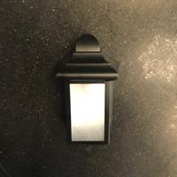 Lampu Dinding Outdoor Taman minimalis Hitam E27 Lebar 11.5cm