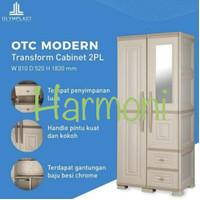 Lemari pakaian 2 pintu+laci Olymplast OTC 2PL - ST2 Modern