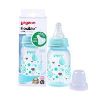 Pigeon Flexible Round Base Japan Brand Botol Susu Bayi (Blue) (120ml)