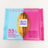 RITTER SPORT COCOA 55% SMOOTH W/ COCOA MASS 100 G