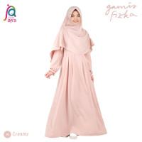 Gamis Syar'i Jilbab Afra Arfa Fizka Premium Crepe Support Busui Creamy