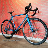 Road Bike Cinelli Vigorelli Electron Blue disc brake, READY, NEW!