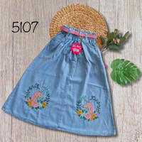 NomenaKids ~ 5107 Rok panjang jeans Gambar Usap anak perempuan