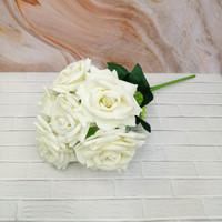 Bunga Artificial Plastik Mawar Beludru Petal Lancip