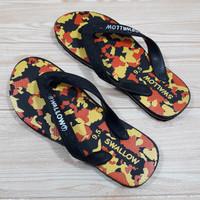 Sandal Swallow Army / Sandal Jepit Dewasa. SW003 - Orange, 39