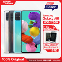 Samsung Galaxy A51 [8GB+128GB] Free Olike LCD Drawing Board 8.5""