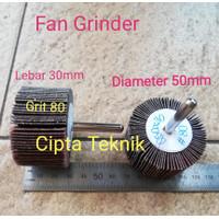 Fan Grinder 50 x 30 grit 80 - Amplas kipas 50x30