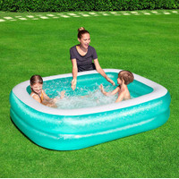 Kolam Renang Anak Kotak 2meter BESTWAY Blue Rectangular Pool 201cm