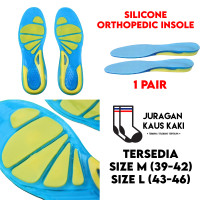 Silicone Orthopedic Insole Sepatu Shoe Pad Gel Support Anti Slip