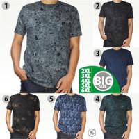 Kaos Pendek Tie Dye Pria Big Size Jumbo Tshirt Motif Cowok Print Katun - Abu-abu, XXL