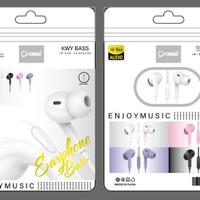 Headset Handsfree Earphone Macaron Hi-Res OR88 EP-F3