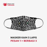 Masker Kain 3 Lapis (3 Ply) Earloop - Desain oleh Olderplus