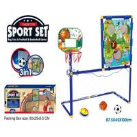 Mainan Sport Set 3 in 1 Bag Toss / Football dan Basket Ball Game No.ZG