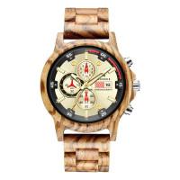 Ninocs Wooden Watch Chronograph Original Jam Waterproff Garansi 1 Th