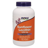 NOW Foods (200 softgels) Sunflower Lecithin 1200mg
