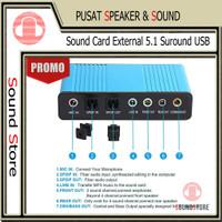 SoundCard External 5.1 Suround USB untuk Laptop PC SPDIF Support