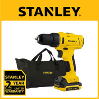 Stanley Bor Cordless Drill Driver 10.8V Li -Ion + Softbag SCD121S1-B1