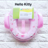 Soft Ring Potty Training Seat with Handle Hello Kitty Pink [BH 512]