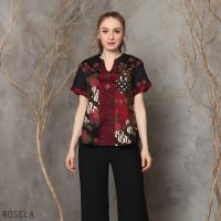 Rosela Top Super Jumbo - Atasan Batik Wanita Blouse Wanita