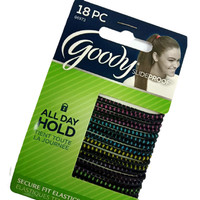 Goody slide proof 06973 elastics thin bright tread 18ct ikat rambut