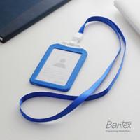 Bantex Cobalt Blue Dual Side ID Card Holder Lanyard Portrait #8881 11